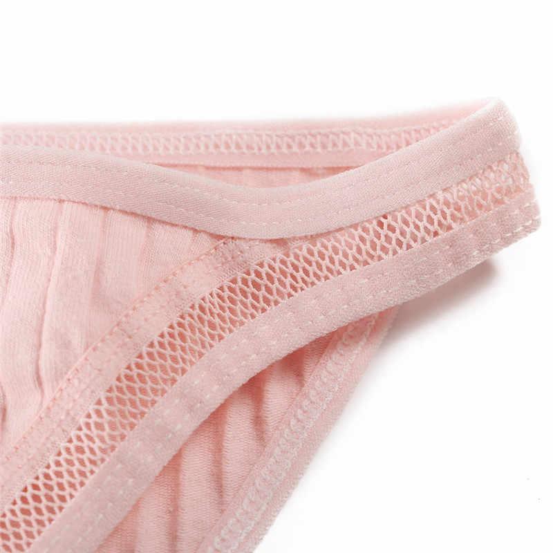 FINETOO مثير منخفضة الخصر النساء سراويل القطن السيدات ملخصات مثير الملابس الداخلية الراحة السروال بلون M-XL سراويل الإناث 2020