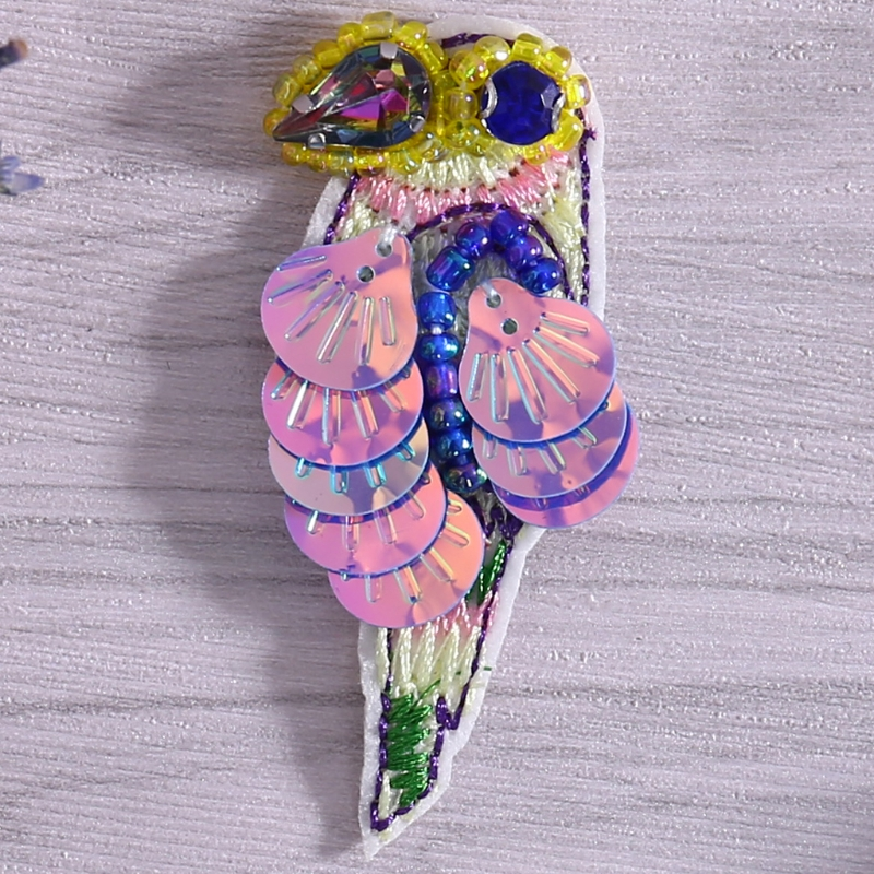 Beads Parrot Clothing Patches Apparel Applique Sewing Embroidery Accessories LX9E