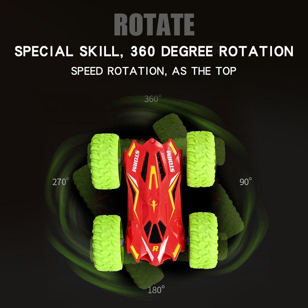 1/32 радиоуправляемая трюковая машина высокоскоростная крутая гусеничная машина 360 градусов переворачивается Багги машина двухсторонняя вращающаяся крутая Радиоуправляемая машина детская игрушка