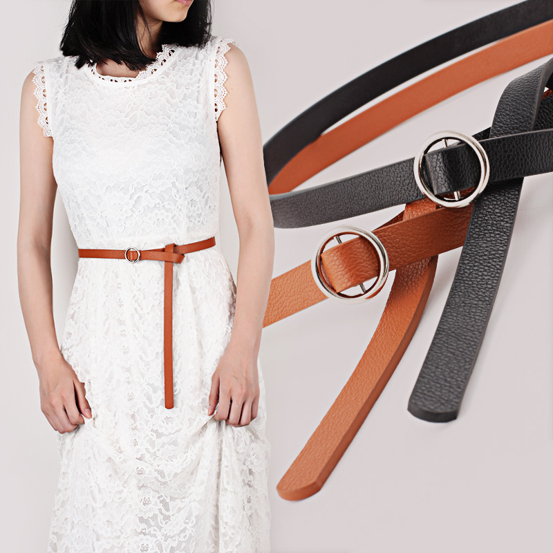 Women Faux Leather Belts Fashion Ladies Slim Belt Quality Ladies Leather Belt