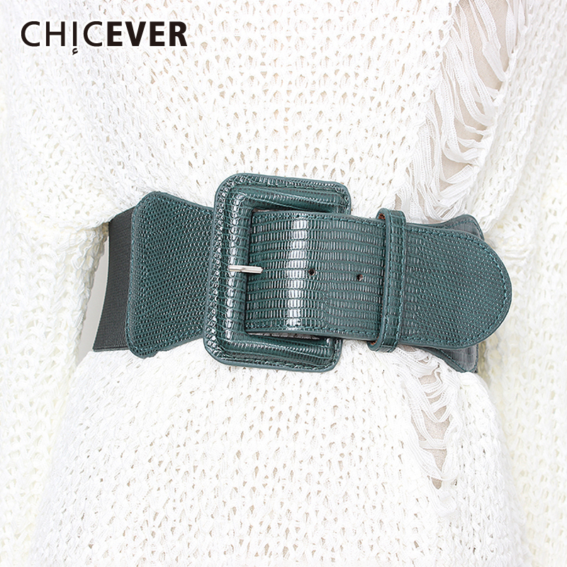 CHICEVER Korean Style High Waist Belts For Women Slim Elastic Dresses Accessories Belt Female 2019 Spring Summer Fashion New