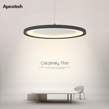 Ultra-Thin LED Pendant light Modern Nordic Creative flying saucer Pendant lamp Dining room table Ceiling Hanging lights yellow white coffee flying disk pendant light fixture modern art deco nordic hanging lamp luminaria design dining table room bar
