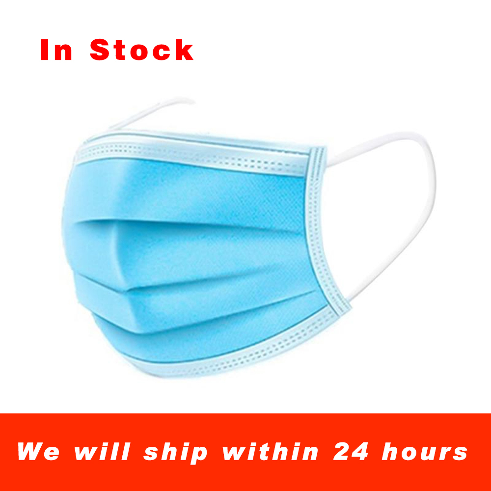 Disposable Masks 10/50 Pcs Mouth Mask 3-Ply Anti-virus Anti-Dust FFP3 KF94 N95 Nonwoven Elastic Earloop Salon Mouth Face Masks