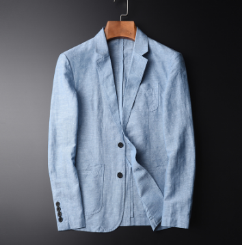 Quality New Arrival Blazer Man New Linen Suit Jacket Autumn Casual Mianma Male Single Breasted