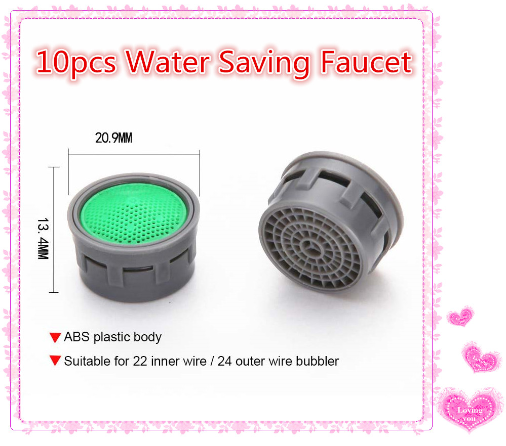 10pcs Water Saving Faucet Nozzle Faucet Aerator Water Saving Kitchen Bathroom Accessories Faucet Connector Shower Christmas