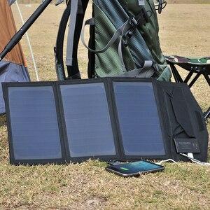 Image 5 - ALLPOWERS güneş pil şarj cihazı taşınabilir 5V 15W 10000mAh USB C taşınabilir GÜNEŞ PANELI şarj cihazı açık havada katlanabilir GÜNEŞ PANELI.
