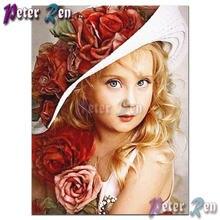 5d алмазная живопись вышивка крестиком милая маленькая девочка