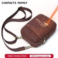 100% Nubulk レザー電話バッグ iphone 7 8 男性のウエストパック携帯電話のショルダーバッグトラベルポーチスモールクロスボディバッグ bolsas
