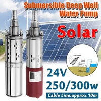 WOLIKE 250W/300W 24V DC 30M Submersible Deep Solar Well Water Pump Powerful Irrigation Garden Home Agricultural Water Transfer