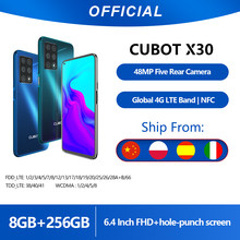 "Cubot x30 smartphone 48mp cinco câmera 32mp selfie 8gb + 256gb nfc 6.4 ""fhd + fullview display android 10 versão global helio p60(China)"