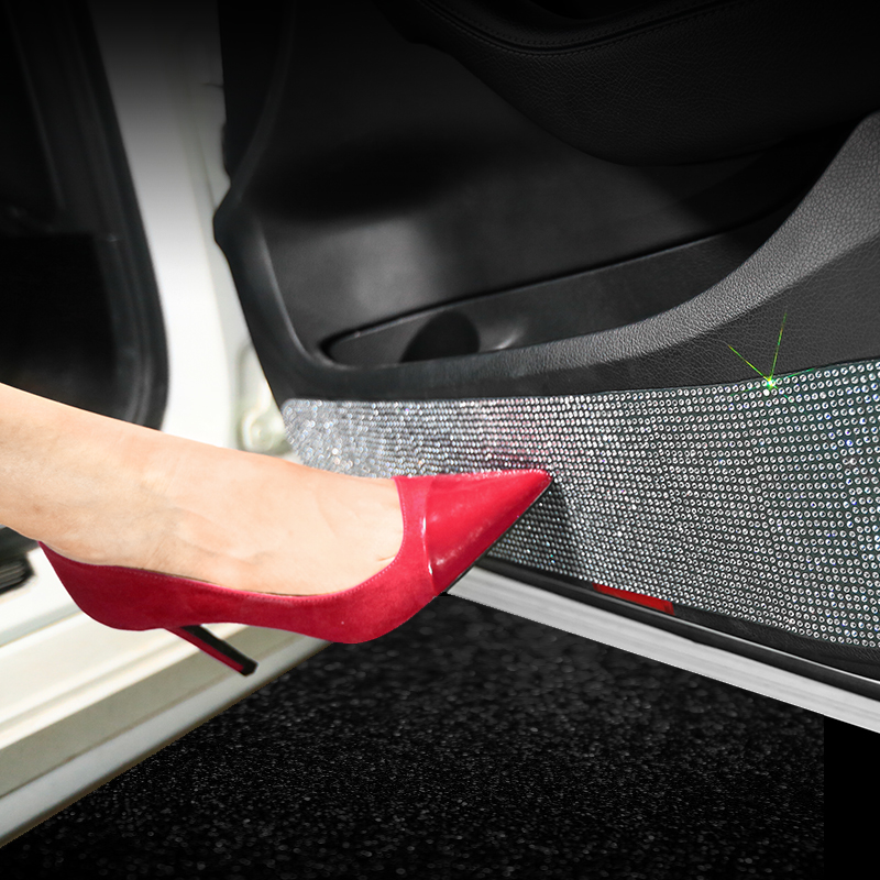Fashion Car Multi-function Car Door Protective Sticker Rhinestone Tape Car Protection Scratch-resistant 3M Sticker
