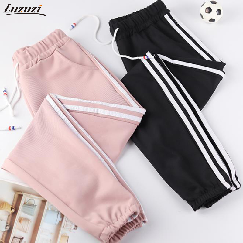 Luzuzi Women Trousers Pants Side-Lines Exercise Dance Loose Female Sports Running Casual title=