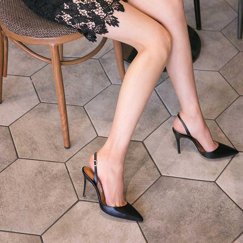 Talloni Delle Donne Pompe Scarpe Donna Tacchi Alti Moda Fibbia Strape Punta a punta Scarpe Da Sposa Primavera Autunno casual Scarpe Più Il Formato D