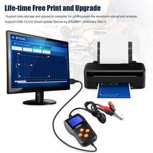 Image 4 - Konnwei KW600カーバッテリーテスター12vデジタルカラー画面自動バッテリーアナライザー100 2000CCAにクランキング充電車診断