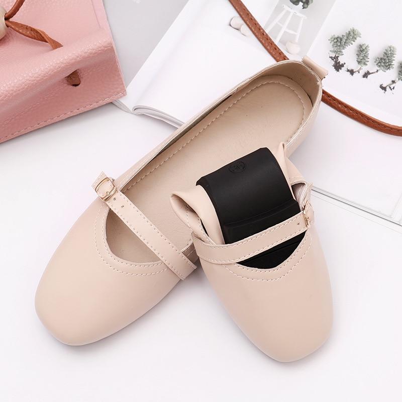 2019 été femmes chaussures plates baskets ballerines oxfords chaussures femmes sans lacet mocassins blanc découpe confort plat bateau chaussures - 2