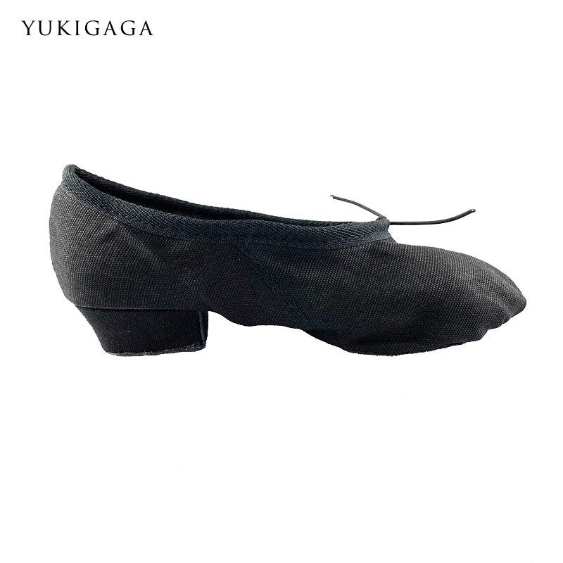 Tiejian Designer Canvas Dance Shoes Split Heel Sole Indoor Dance Jazz Men Women A8a