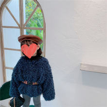 Зимнее плотное хлопковое пальто для девочек пуловер маленьких