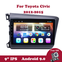 Android 9.0 Car Radio Autoradio Multimedia System Player For Honda Civic 2012 2013 2014 2015 Right and Left  Hand Drive 9.0 IPS lsrtw2017 abs car gear trims for honda civic 2012 2013 2014 2015 9th civic