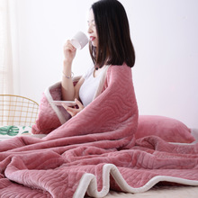 Winter Warm Blanket Flannel Air Conditioning Blanket Coral Fleece Thick Winter Bed Sheets Bedspread Sofa Throw christmas snowscape moon flannel throw blanket