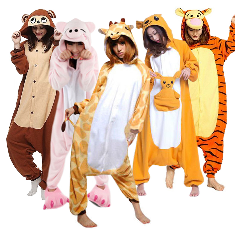 Adult Unisex Animal Fancy Costume Cosplay Kigurumi One Piece Pyjamas Sleepwear