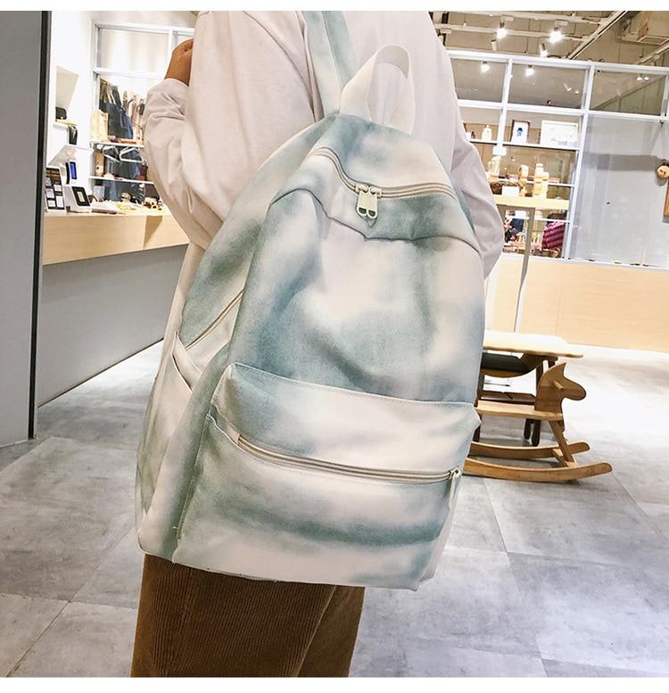 qualidade durável lona mochila de viagem feminina