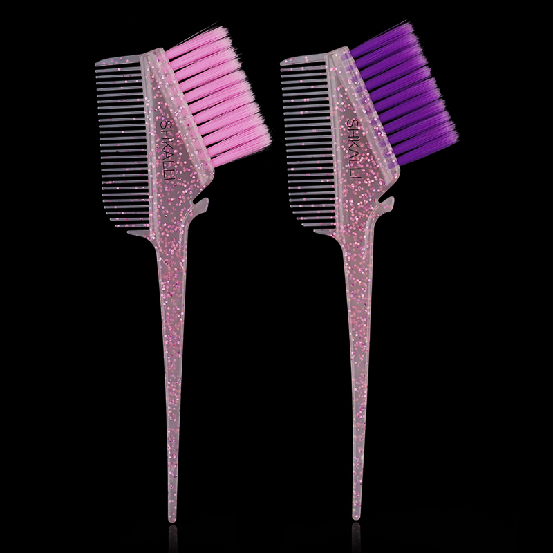 Galaxy Glitter Hair Color Brushes Rounded Hair Color Brush Hair Dye brush and comb for Hair Dye and