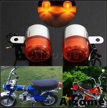 Lâmpada de sinal da motocicleta 10w lâmpada pisca indicadores luzes para honda pouco p25 p50 z50j1 z50 z50a k1 k2 st50 dax st70 ct70