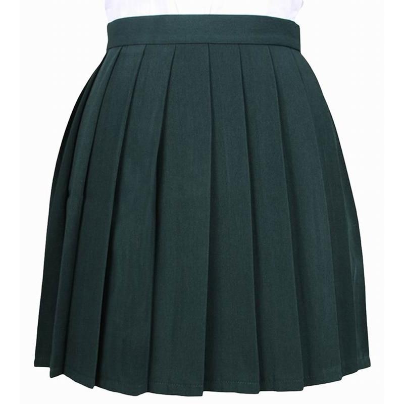 Однотонная Матросская юбка, японская школьная форма, весна 2020, юбки Харадзюку, женские бальные плиссированные юбки с высокой талией