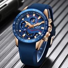 2019 LIGE New Men Gold Watch Top Brand Luxury Business Watches Mens Sport Quartz Date Watch Waterproof Clock Relogio Masculino