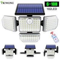 Solar Lichter Outdoor 182/112 LED Wand Lampe mit Einstellbare Köpfe Sicherheit LED Flutlicht IP65 Wasserdicht mit 3 Arbeits Modi