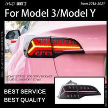 Style de voiture Feu arrière pour Tesla Modèle 3 Feux Arrière Model Y FEU ARRIÈRE LED Dynamique Signal DRL Frein INVERSE auto Accessoires