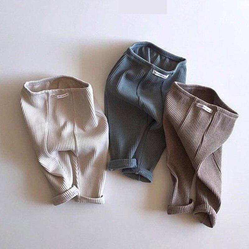 Весна 2020; Леггинсы для новорожденных; Эластичные полосатые штаны в рубчик для мальчиков и девочек; Хлопковые леггинсы для малышей; Одежда для детей 0 24 месяцев|Брюки|   | АлиЭкспресс