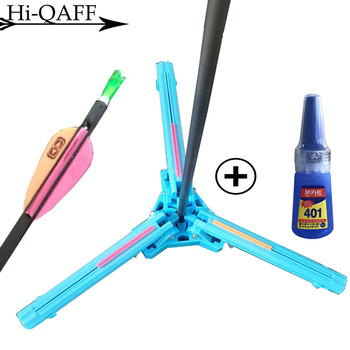 Hi-Q Adhesive Tool for Arrow feathers Archery Hunting Accessories Plastic Feather Arrow Shaft Glue Adjustable Fletching Jig DIY 1
