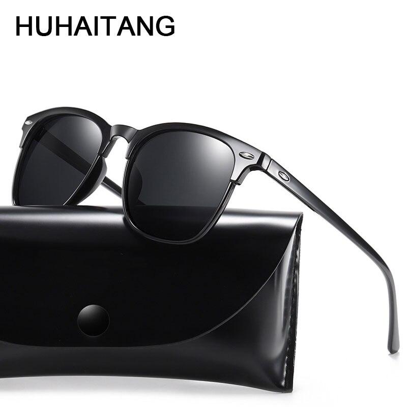 HUHAITANG Luxury Vintage Polarized Sunglasses Men Classic Outdoor Light Women Sun Glasses Brand High Quality Sunglass For Mens
