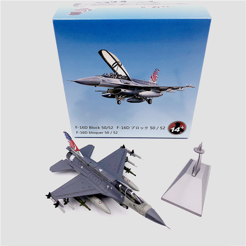 1:72 1/72 Scale Singapore Air Force F-16D BLOCK 52 Fighter Diecast Metal Airplane Plane Aircraft Model Toy image