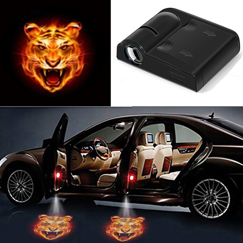 1pcs Wireless Car Door Welcome Light LED Laser Projector Logo Ghost Shadow Light For All Universal Courtesy Lamp Lights
