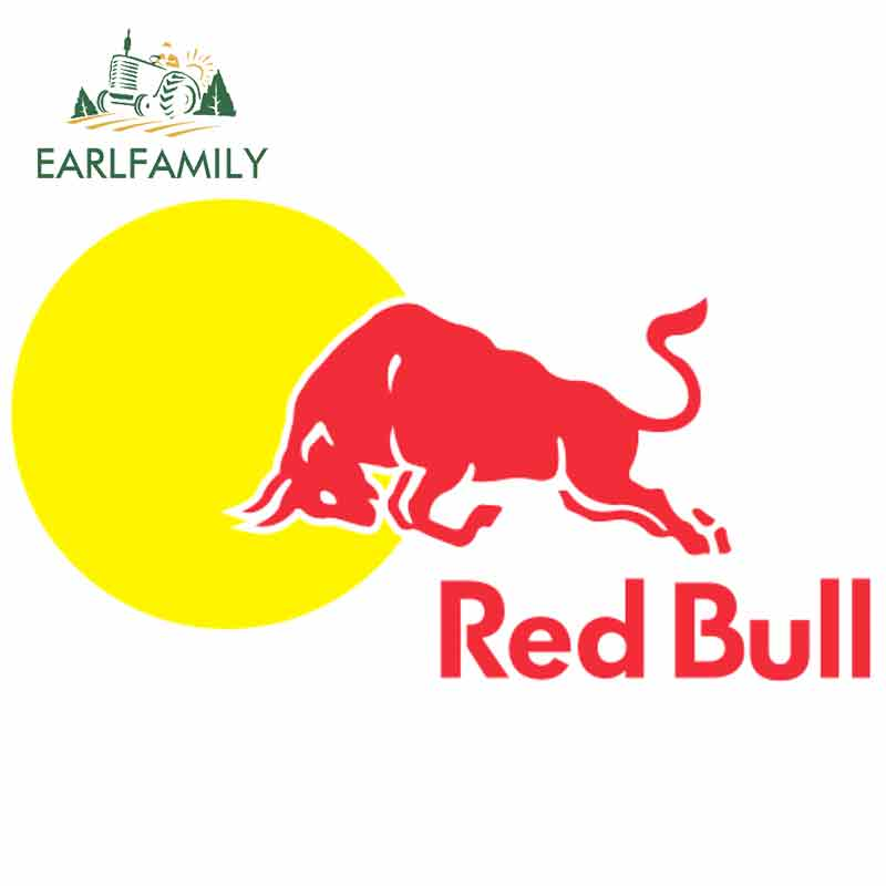 EARLFAMILY 13cm X 7.4cm For Kisspng Red Bull Logo Car Stickers Personality Decal Scratch-Proof Sunscreen Occlusion Scratch