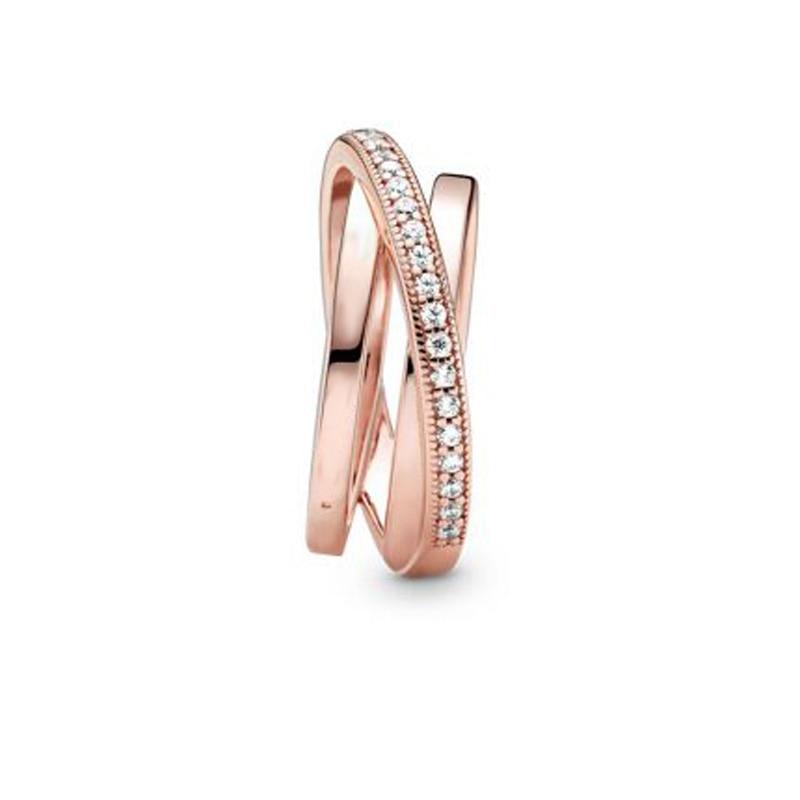 Bague en argent Sterling 2020, Signature croisée sur Triple bande, fiançailles, mariage, bijoux, cadeau, nouveau 925 5