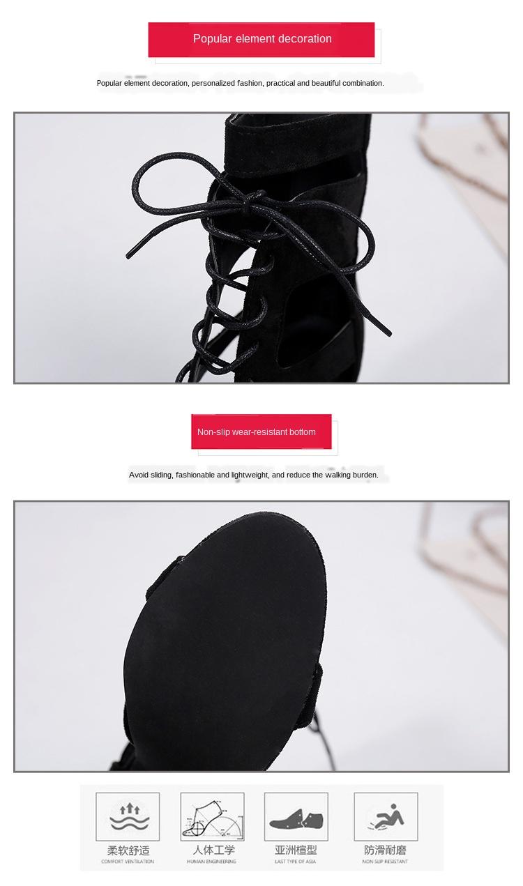 Сандалии на высоком каблуке со шнуровкой в римском стиле пикантные