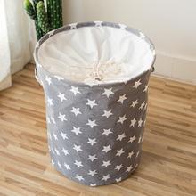35*45CM składany kosz na bieliznę wzór gwiazdy kosz do przechowywania duża wodoodporna tkaniny lniane do domu zabawkowa pojemnik z przegródkami do przechowywania odzieży tanie tanio Włókniny tkaniny 1022 Ekologiczne Składane Zaopatrzony 2019 Collapsible Laundry Basket Storage Basket Organizer Coffee Blue Pink Gray