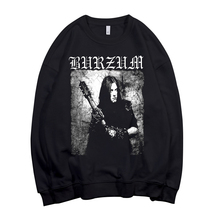 4 Designsนอร์เวย์BurzumวงดนตรีPullover Sweatshirt Rock Hoodie Punk Sudadera StreetwearขนแกะOuterwear HeavyโลหะสีดำRocker