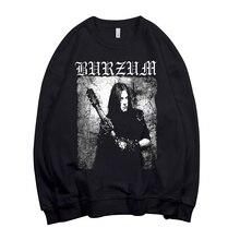 Свитшот норвежский Burzum Band Pollover, худи в стиле рок, уличная одежда в стиле панк, флисовая верхняя одежда, черного цвета с металлическим рокером, 4 дизайна