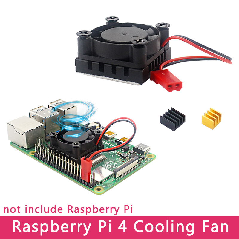 Raspberry Pi 4 Cooling Fan With Silicone Pad Aluminum Heat Sink Cooler For Raspberry Pi 4 Model B