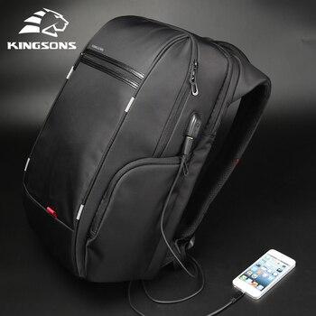 "Kingsons 15""17""  Laptop Backpack External USB Charge Computer Backpacks Anti-theft Waterproof Bags for Men Women 1"