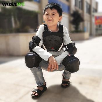 WOSAWE dziecięca zbroja motocyklowa 4-16 lat dziecięca kurtka sportowa rowerowa snowboardowa hokej na plecach ochrona klatki piersiowej tanie i dobre opinie CN (pochodzenie) Chłopcy POLIESTER oddychająca ML308 ML213 BL105 Dobrze pasuje do rozmiaru wybierz swój normalny rozmiar