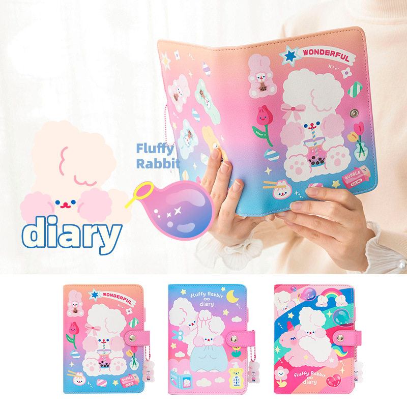 Bentoy Cute Unicorn NoteBook Student Diary Book Women Travel Planner Notepad Girl Diary Journal Books Card Holder Cover