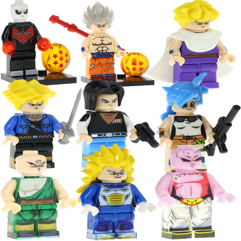 Lego kompatible Figuren Dragon Ball Android 18 Anime Dragon Ball Z Vegeta