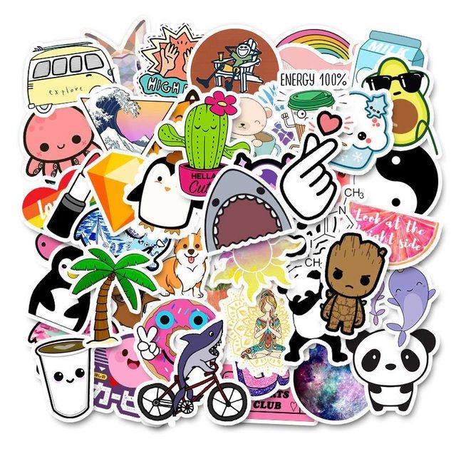 50 本冷夏 vsco ステッカーパックピンク少女アニメ stiker 子供のためのラップトップ冷蔵庫電話 skateboard スーツケースステッカー