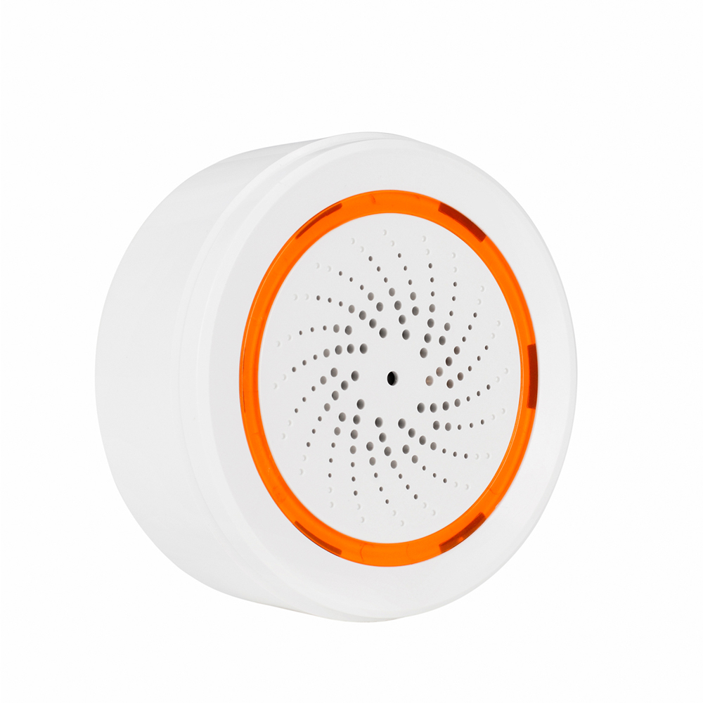 Купить с кэшбэком Tuya Smart Temperature Humidity 90DB Battery Built-in Siren Alarm 3 in 1 ZigBee Sensor 90DB Sound Light Sensor