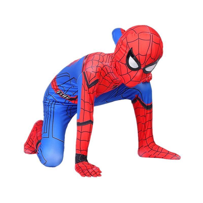 Детский маскарадный костюм «Человек-паук» для мальчиков костюм на Хэллоуин костюм «Человек-паук» красного и черного цвета костюм «Человек-...